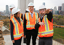 Photo of faculty members at the CEIE construction site