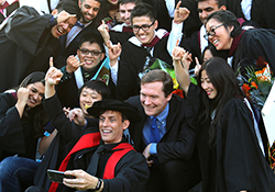 Photo of EngSci students at convocation