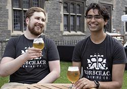 ChemE alumni Matthew Reiner (left) and Mohan Pandit (right)